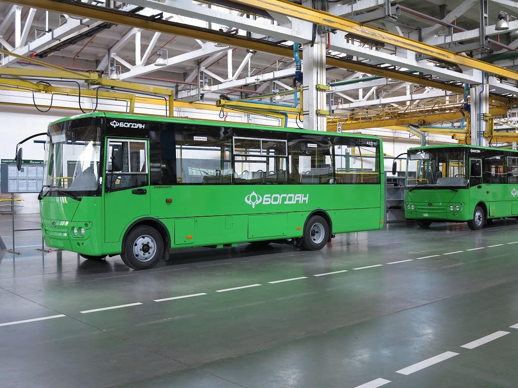 Автобусы Богдан А221.11 будут отправлены в Киев