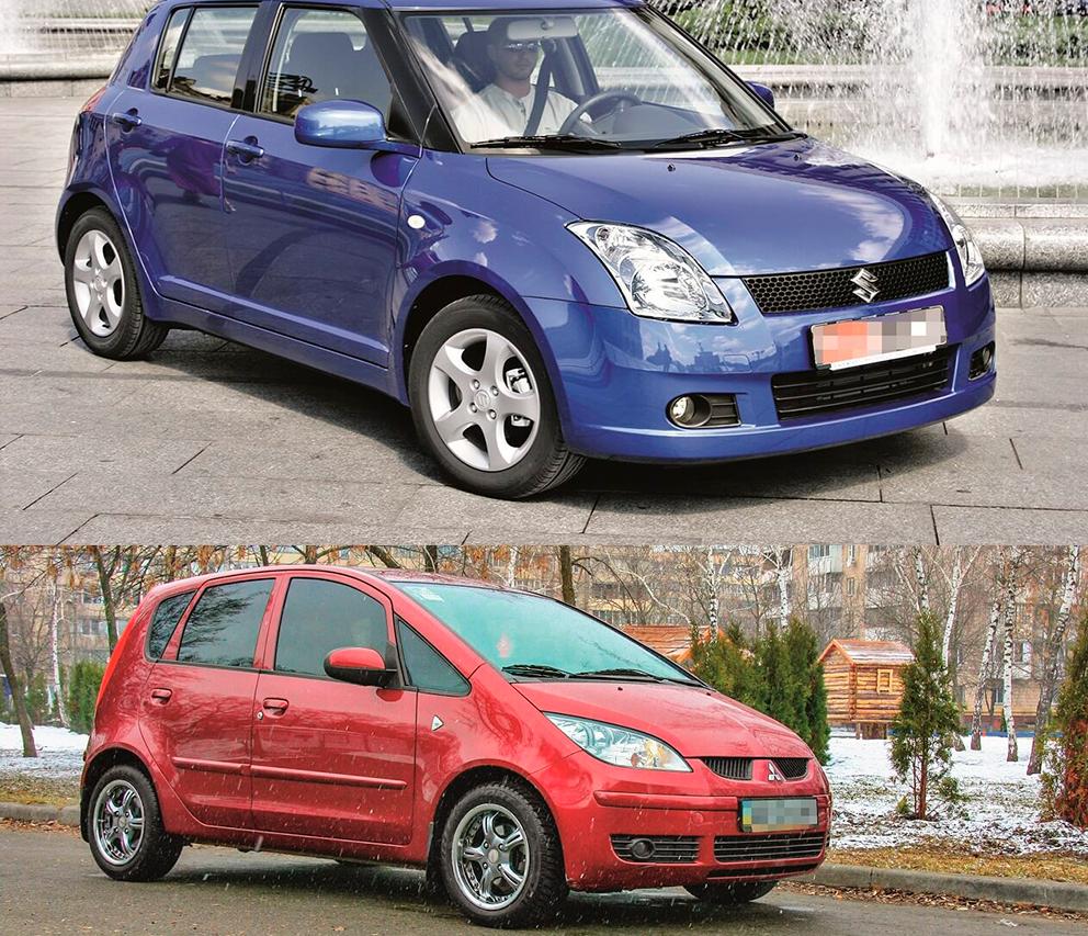 Обзор Mitsubishi Colt и Suzuki Swift.