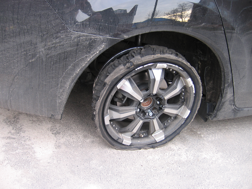 Поврежденная шина