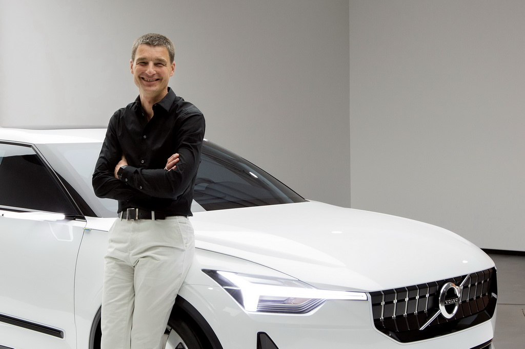 Thomas Ingenlath with the Volvo Concept 40.2