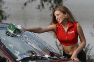 Как мыть машину в жару