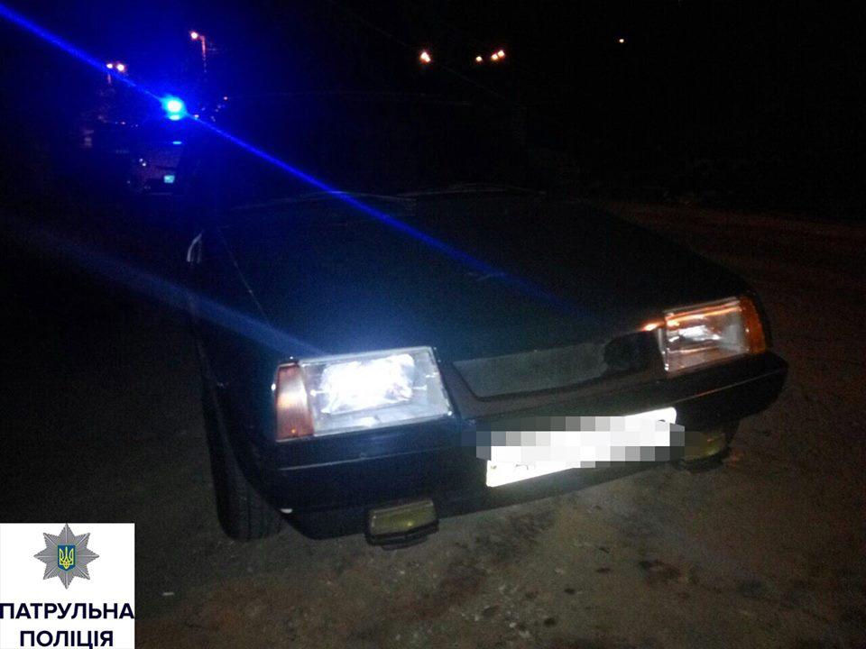 Патрульные устроили погоню за автомобилем нацгвардейцев