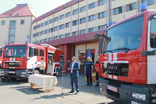Пожарные автомобили MAN получили киевские спасатели