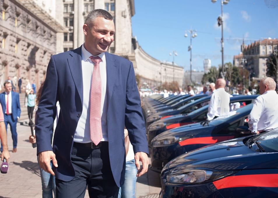 100 нових Ford Fiesta отримали київські медики