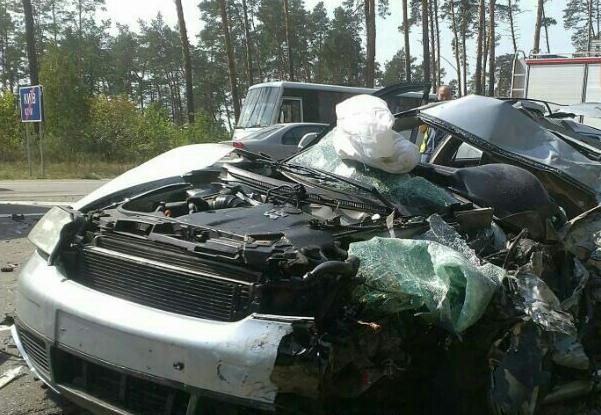 Audi A6 после ДТП