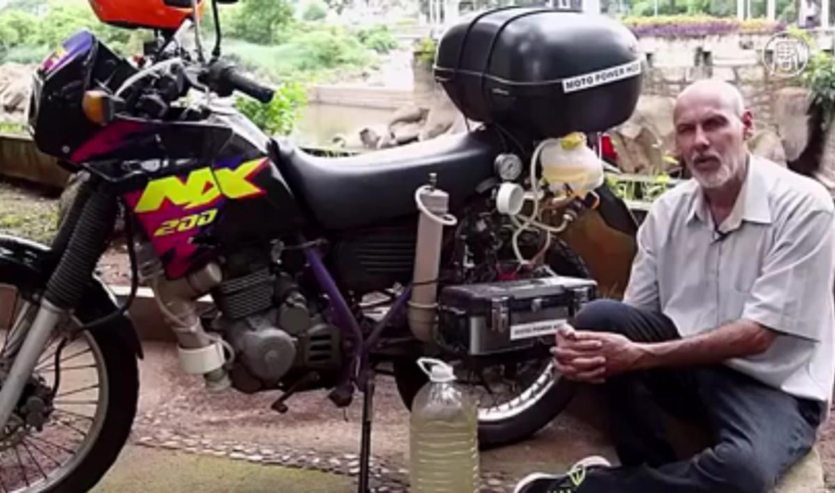 Мотоцикл заработал на воде