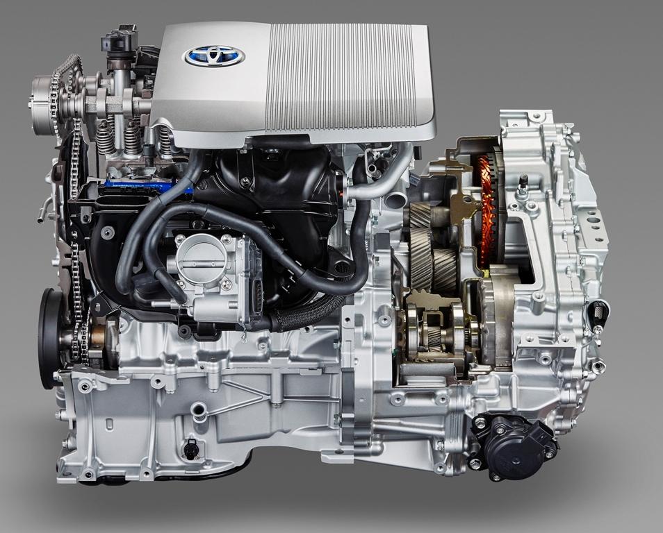 Гибридный силовой агрегат Toyota включает в себя ДВС, два электромотора и планетарный механизм.