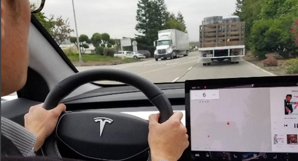 Tesla Model 3: новое изображение интерьера