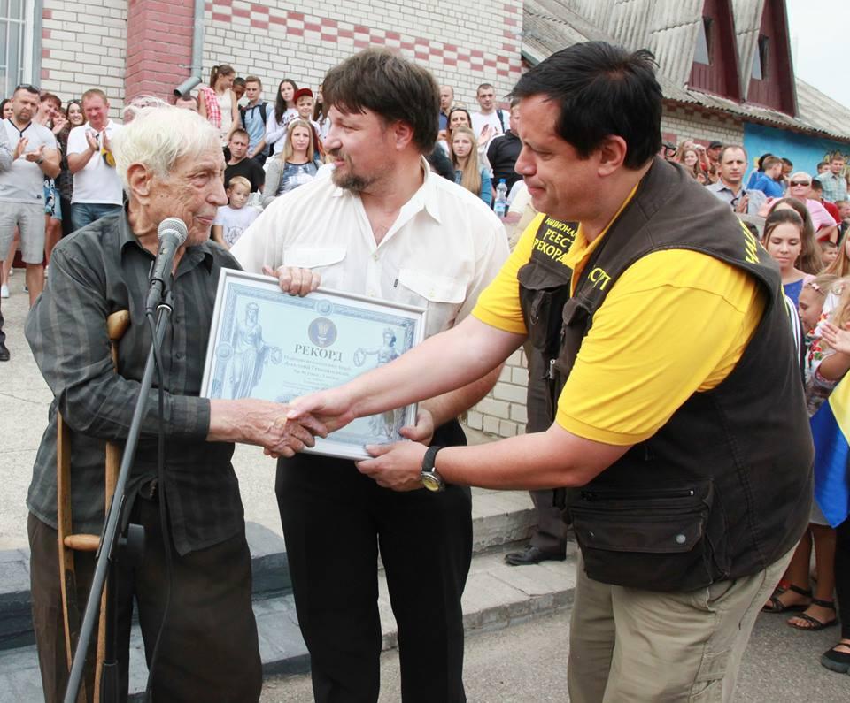 Анатолий Грищинский - 96-летний водитель попал в книгу рекордов Украины