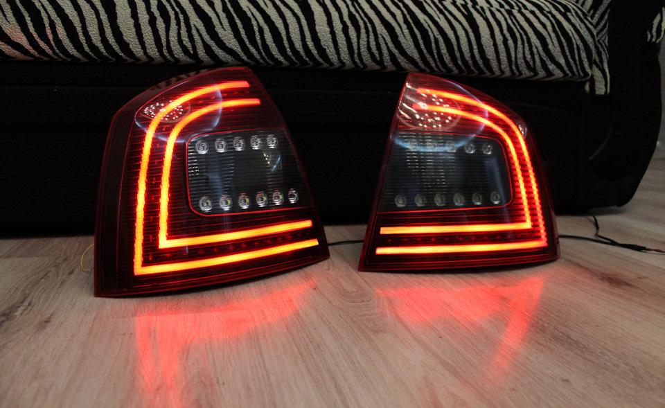 Тюнинг задних фонарей - Шкода Октавия А5 в стиле новой А7
