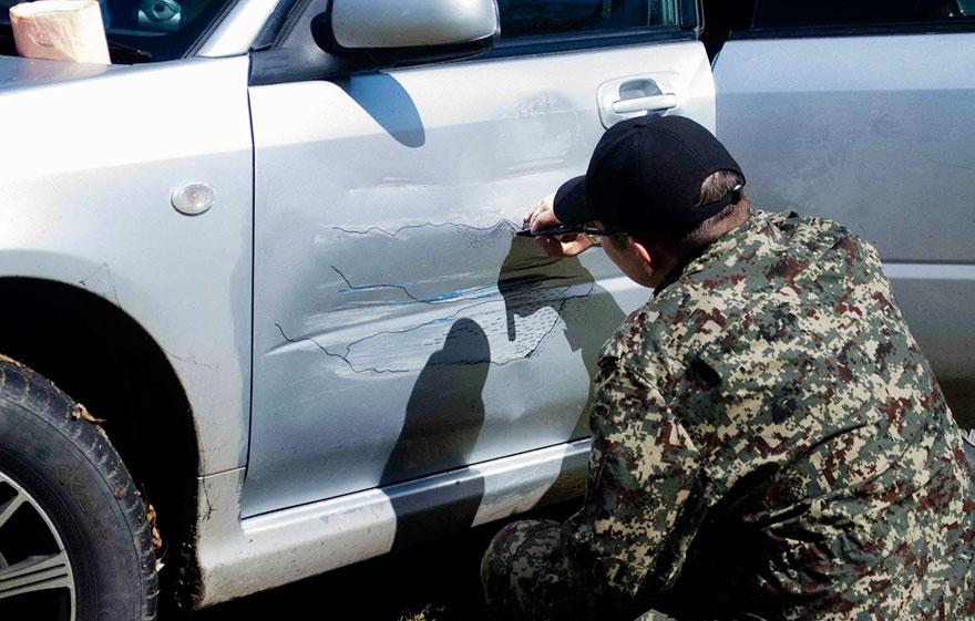 Убрать царапины на машине без покраски 177