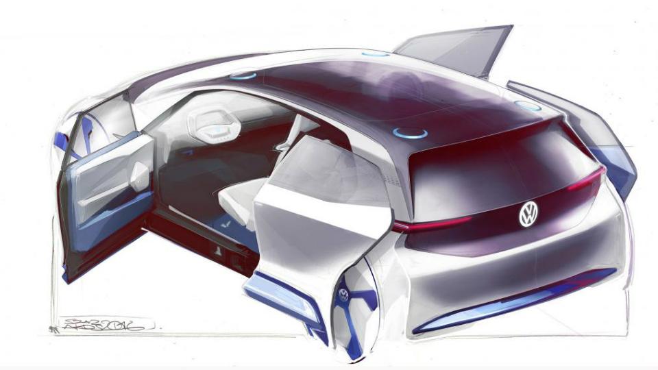 Новый электромобиль Volkswagen. Первые изображения и характеристики