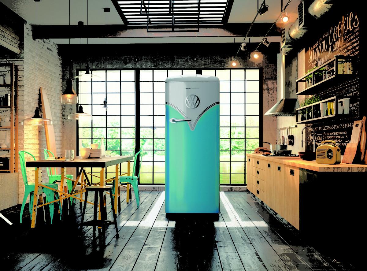 Volkswagen представил ретро-холодильник в стиле микроавтобуса T1