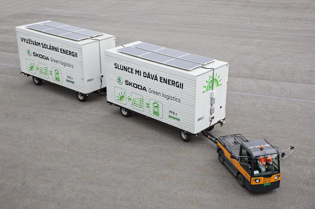 Skoda Auto оснастила электрокар солнечными батареями