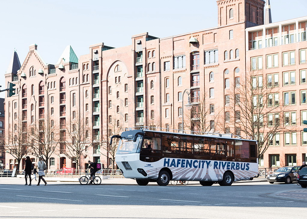 Автобус-амфибия Hafencity Riverbus