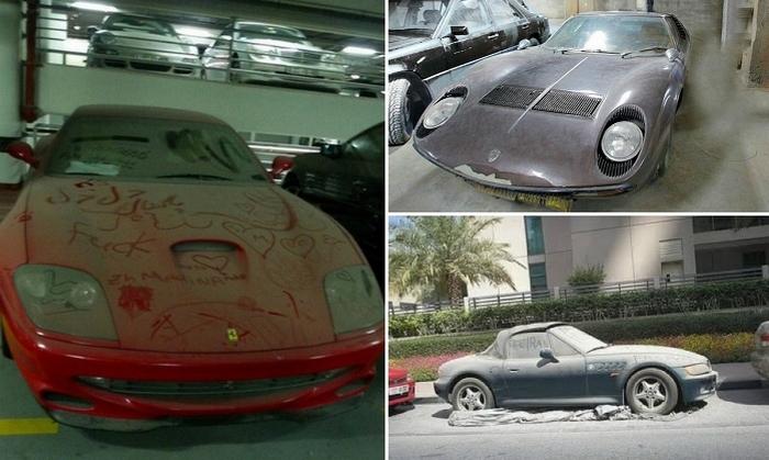 Брошенные авто в Дубае