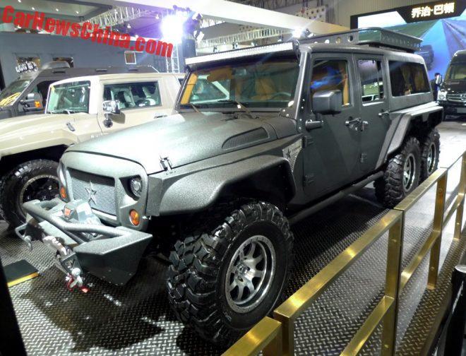 G. Patton Tomahawk 6x6 – китайский конкурент 6-колесного Мерседеса!