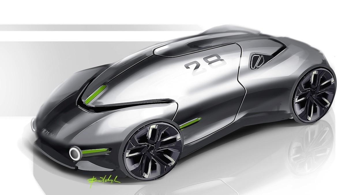 Беспилотный электромобиль будущего от украинского дизайнера