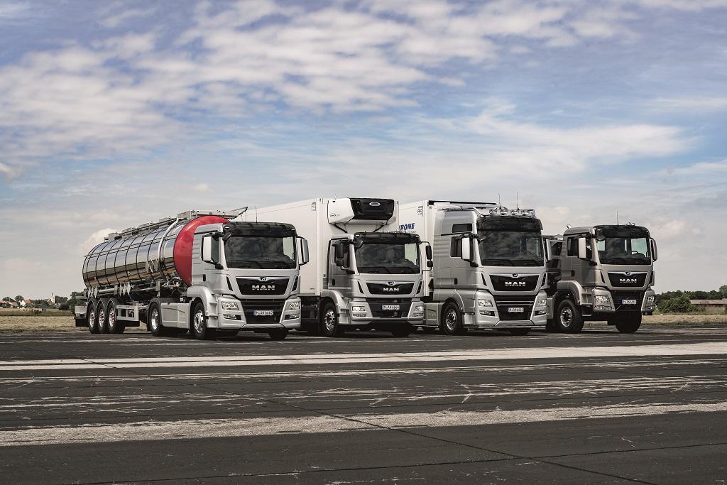 Обновленные грузовики MAN