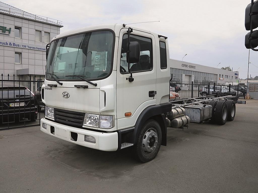 Шасси HD210 (6х2) со средней подъемной осью. Грузоподъем¬ность – до 15 т. Объем кузова – до 42 м куб.