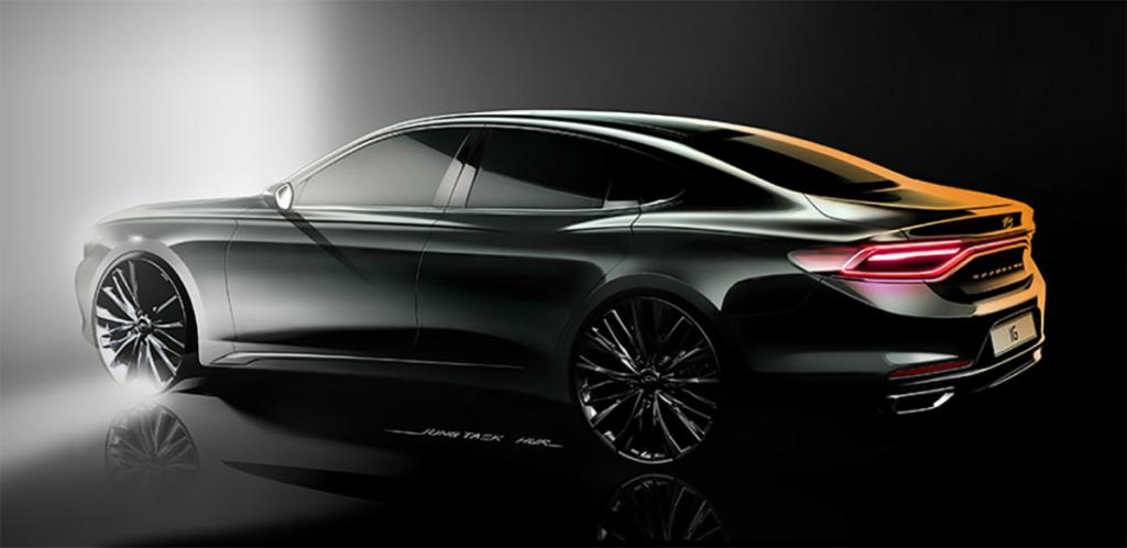 Новый Hyundai Grandeur 2017 – первые изображения премиум седана