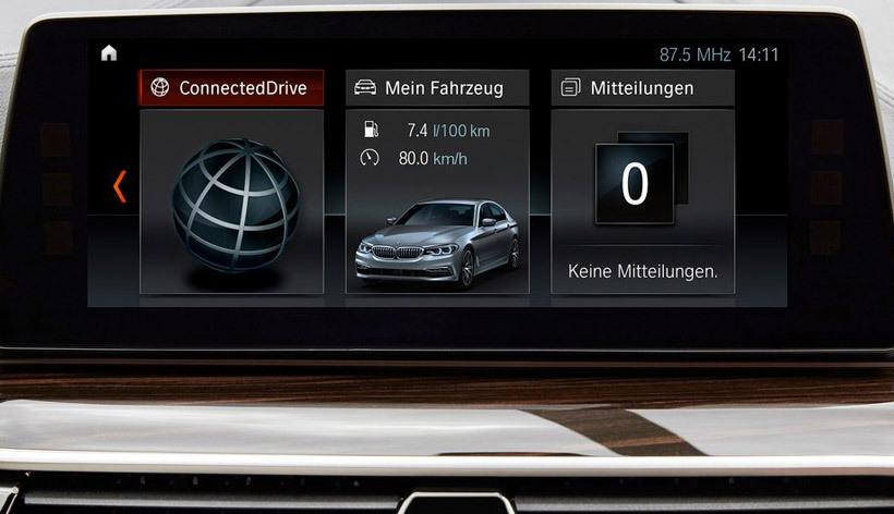 Новая БМВ 5. Интерьер BMW 5 2017