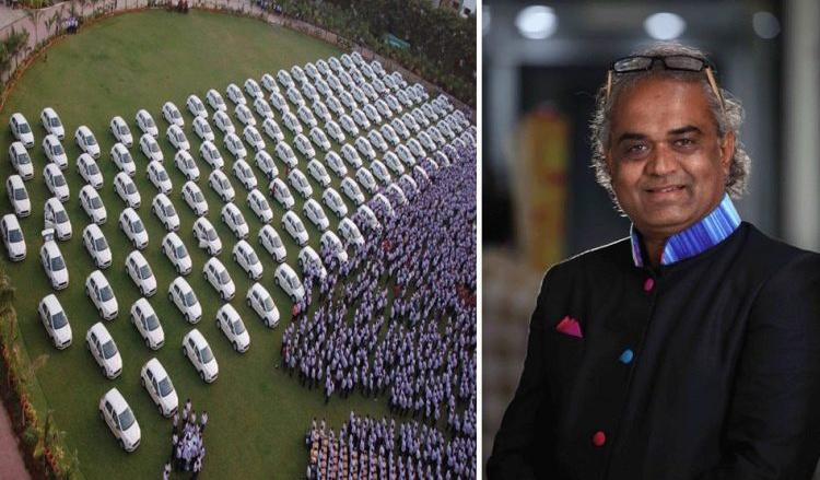 Индийский предприниматель подарил 400 квартир и1200 машин сотрудникам собственной компании