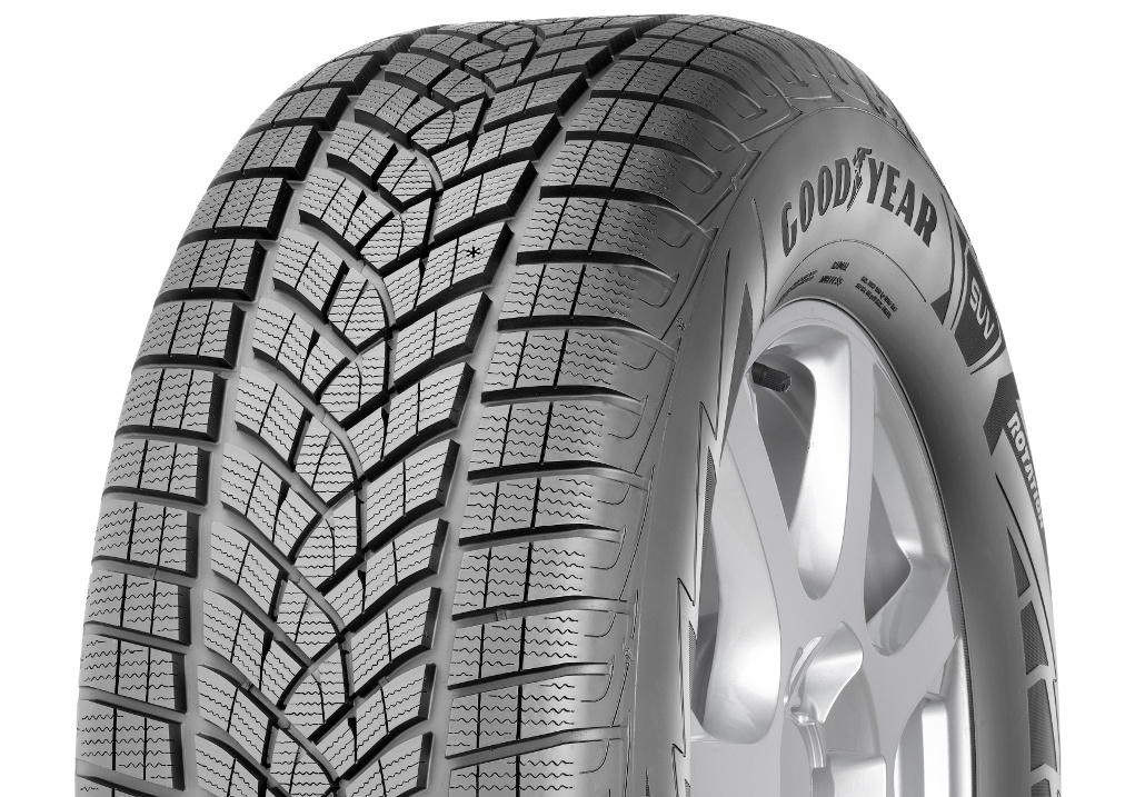 Goodyear UltraGrip Ice SUV Gen1 - 3_4 view - GY on top
