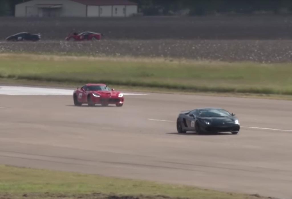 Пенсионер на Lamborghini нокаутировал молодежь в драгрейсинге