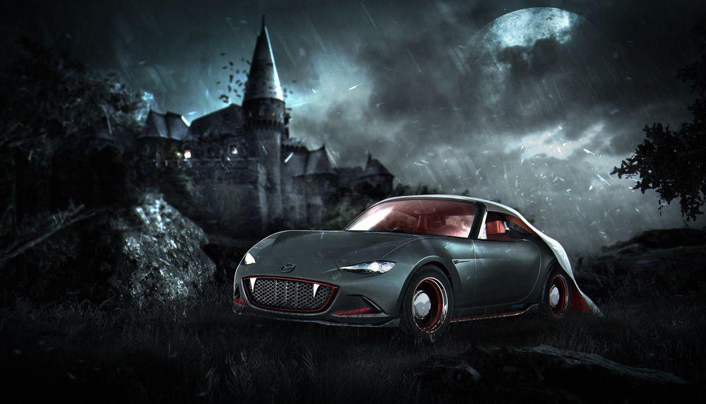 Mazda MX-5 в образе графа Дракула