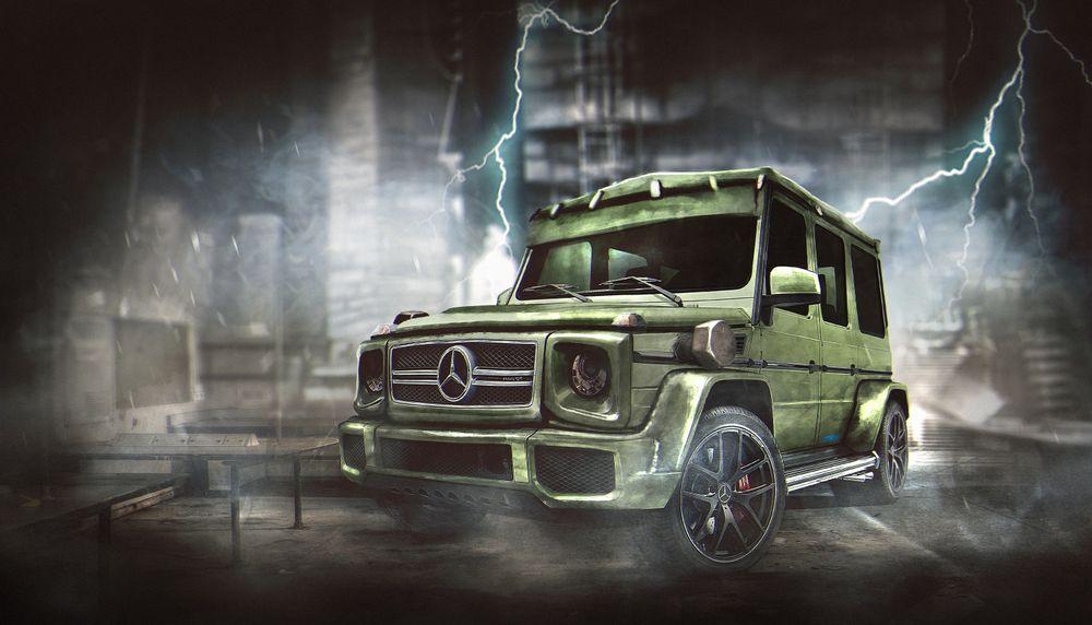 Mercedes-AMG G63 в образе всемирно известного персонажа Франкенштейна