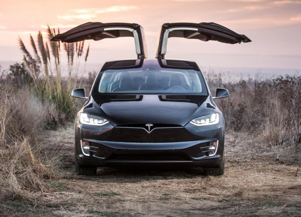 Кроссовер Tesla Model X быстрее замахал дверьми крылья сокола