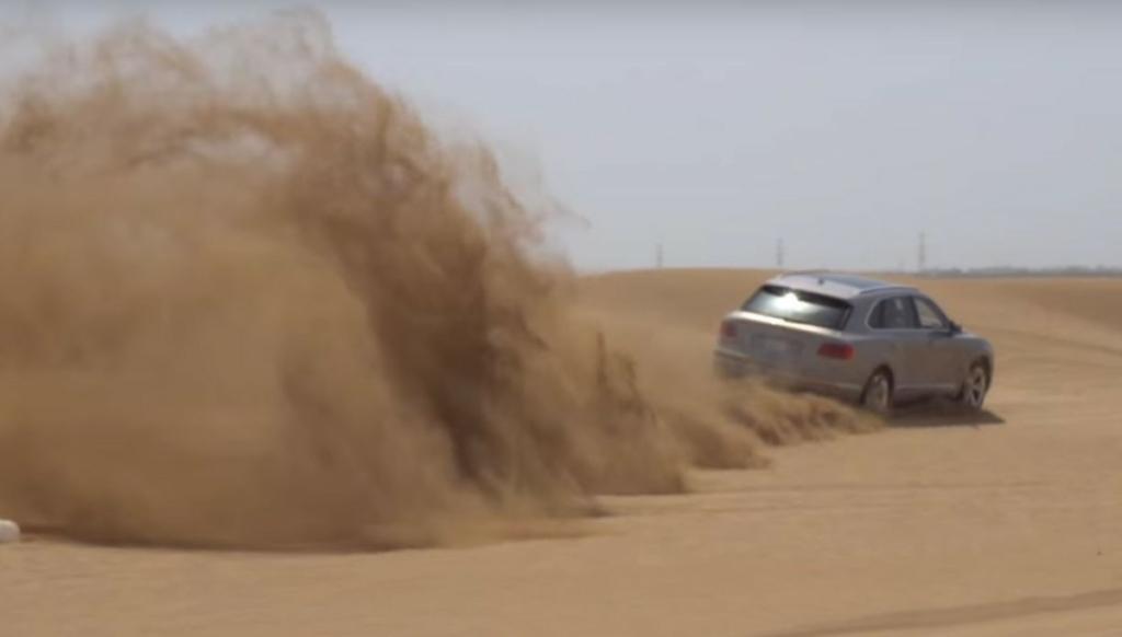 Кроссовер Bentley Bentayga прошел испытание пустыней