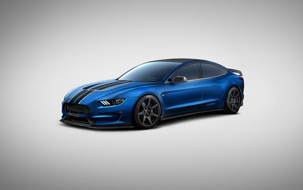 Электромобиль Tesla Model 3 + спорткар Ford Mustang GT