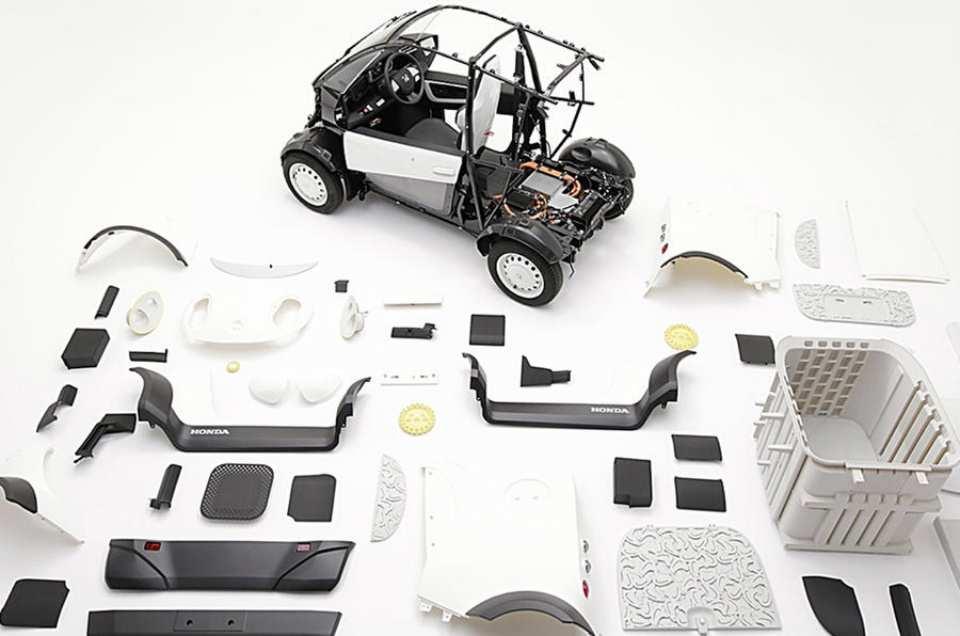 Дешевый электромобиль Honda хотят печатать на 3D-принтере