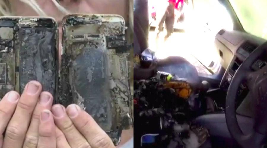 iPhone 7 взорвался в машине и сжег ее?