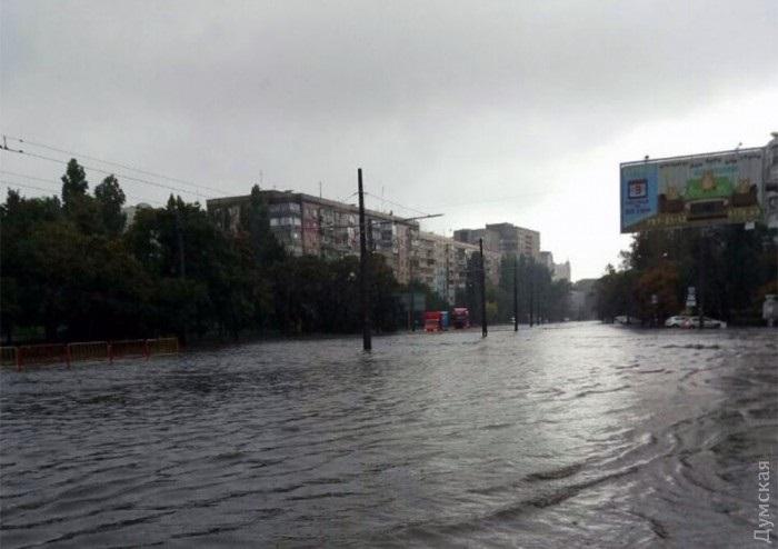 ВОдессе подтопило ряд улиц