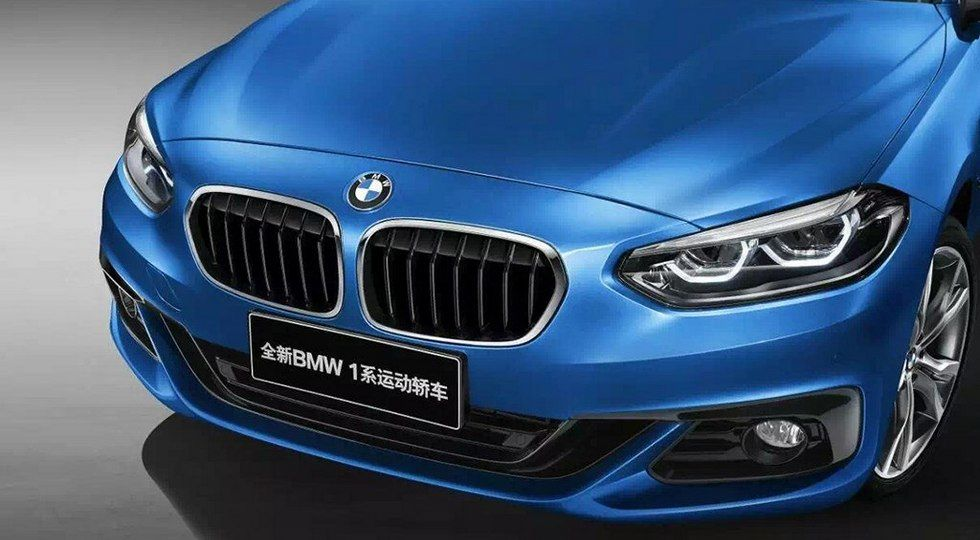Седан BMW 1 2017 – новые фото и подробности