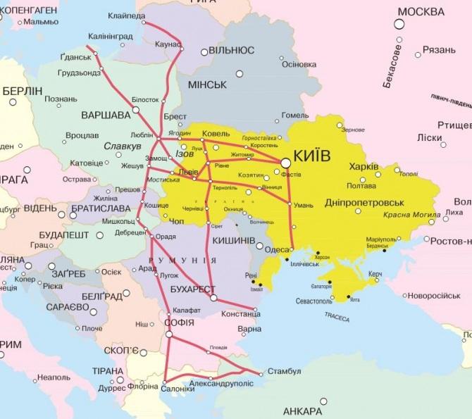 Через Украину пройдет новый европейский автобан