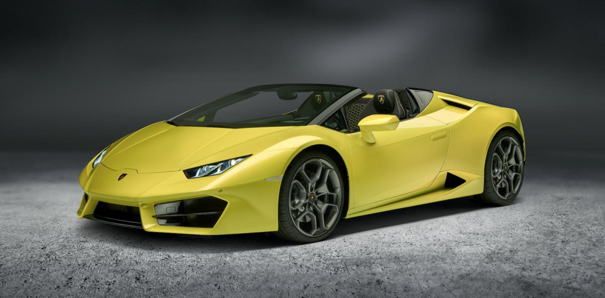 Lamborghini представила ураганный кабриолет Huracan Spyder