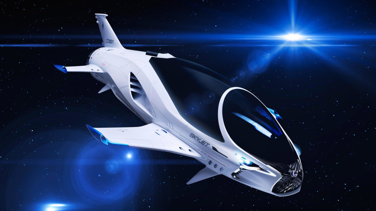 Компания Лексус создала космический корабль Skyjet