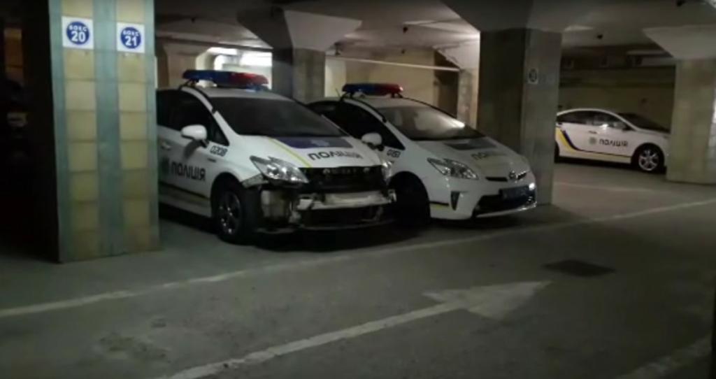 Разбитые Приусы полиции засняли на видео в Одессе