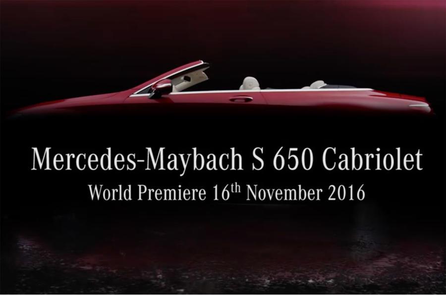 Роскошный кабриолет Mercedes-Maybach S650 представят в Лос-Анджелесе