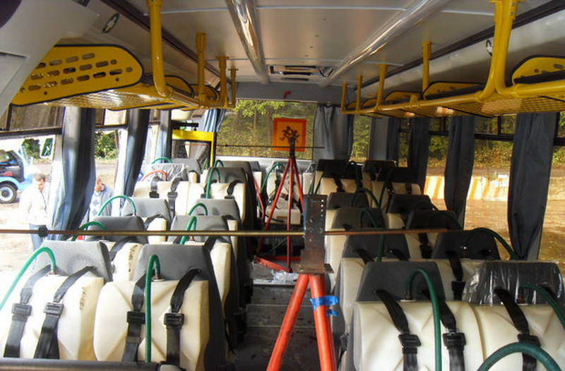 Краш-тест школьного автобуса МАЗ 2017г