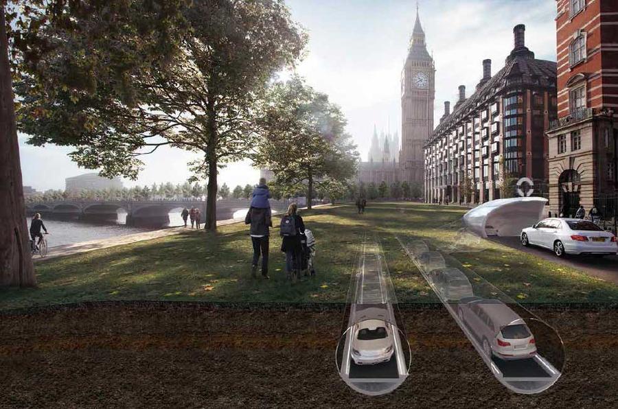 Англичане предлагают загнать беспилотные электрокары под землю