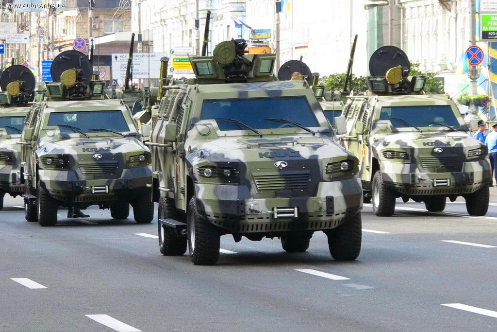 Автомобили и бронетехника украинской армии