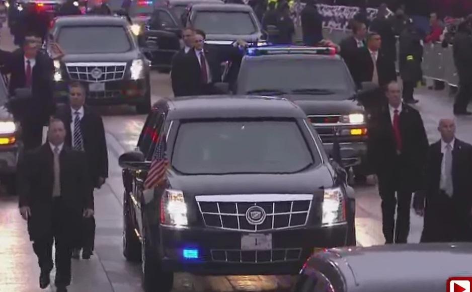 Дональд Трамп и его лимузин Сadillac One