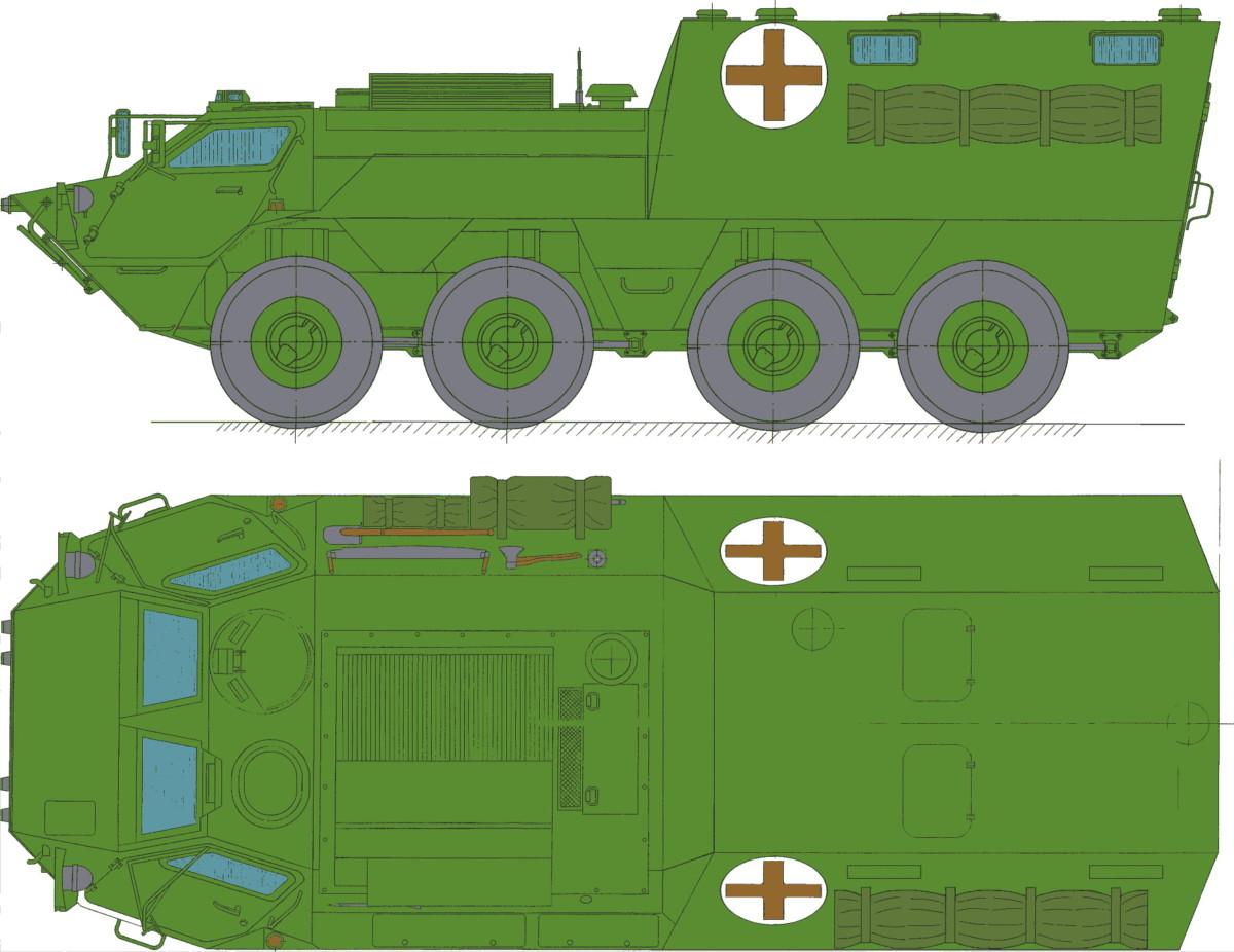 Санитарный бронетранспортер БТР 4-С