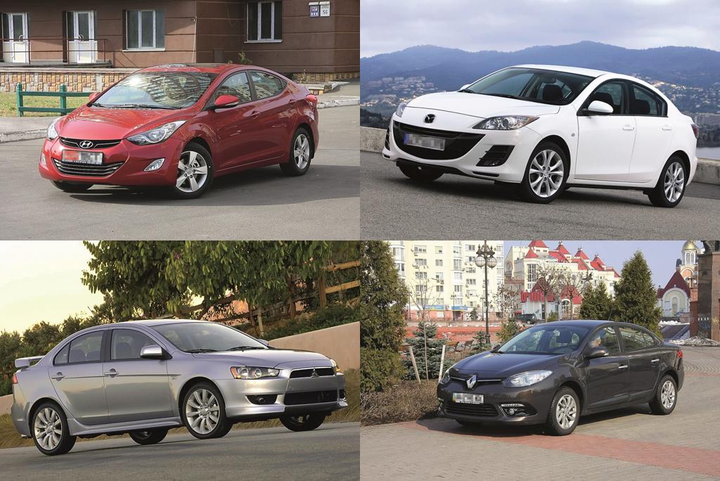Сравнительный обзор б/у седанов: Hyundai Elantra, Mazda3, Mitsubishi Lancer X и Renault Fluence