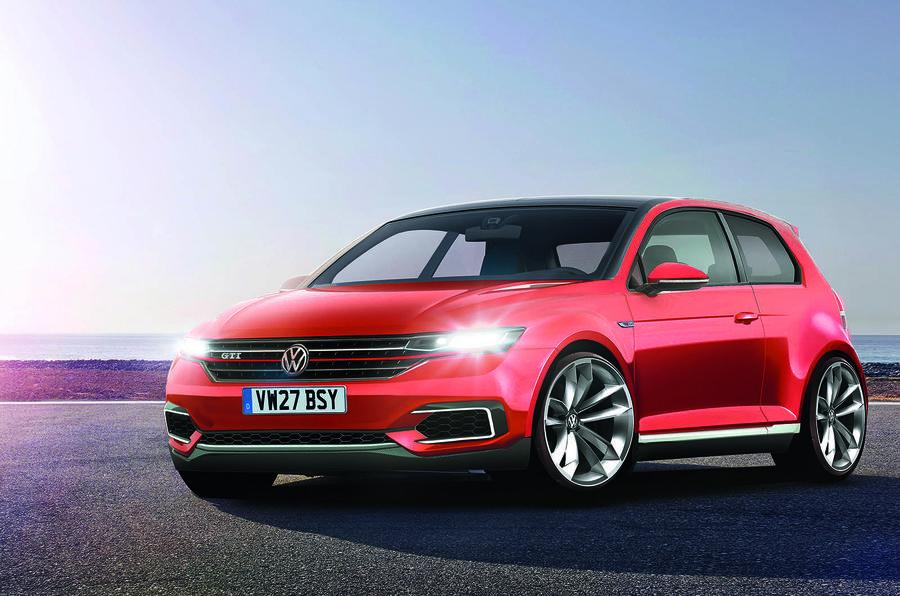 Появилось первое рендерное изображение VW  Golf восьмого поколения